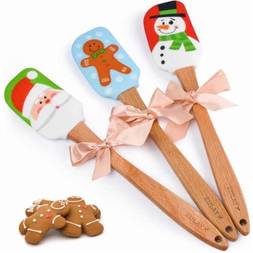 Zulay Kitchen Christmas Cake Decorating Spatula Perspective: front