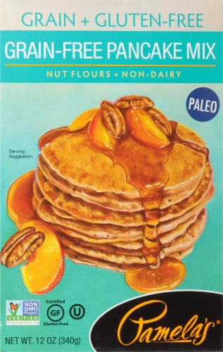 Pamela's Grain and Gluten-Free Pancake Mix Perspective: front