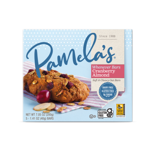 Pamela's Whenever Bars Oat Cranberry Almond Perspective: front