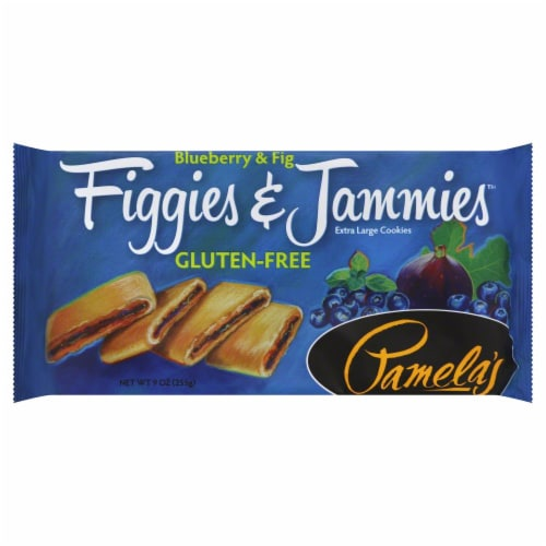 Pamela's Figgies & Jammies Blueberry & Fig Cookie Perspective: front