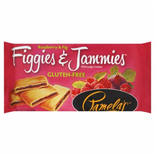 Pamela's Gluten Free Raspberry Fig Bars Perspective: front