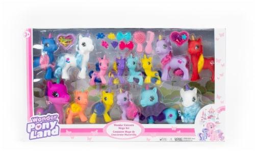 Gigo Wonder Pony Land Unicorn Mega Set Perspective: front
