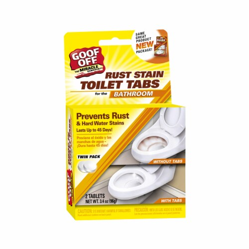 Wm Barr ESX20002 Goof Off Rust Stain Toilet Tabs 2 Count Perspective: front