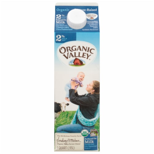 Organic Valley 2% Reduced Fat Milk Perspective: front