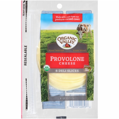Organic Valley Provolone Cheese Slices Perspective: front