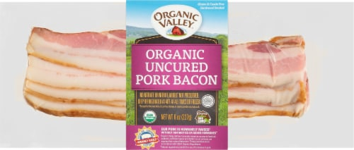 Organic Valley Uncured Hardwood Smoked Pork Bacon Perspective: front