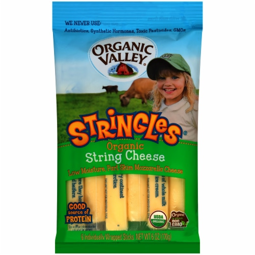 Organic Valley Organic Stringles Mozzarella String Cheese Perspective: front