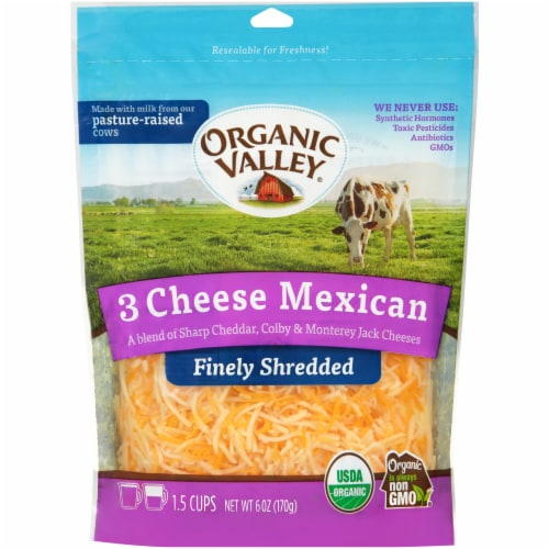Organic Valley Mexican Blend Shredded Cheese Perspective: front