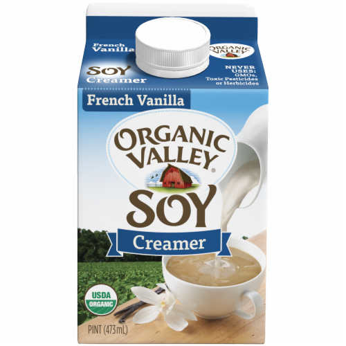 Organic Valley French Vanilla Soy Creamer Perspective: front