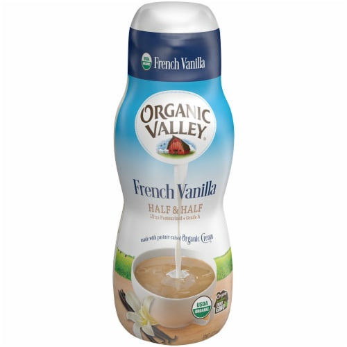 Organic Valley Ultra Pasteurized French Vanilla Half & Half Perspective: front