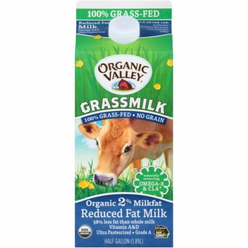 Organic Valley Grassmilk 2% Reduced Fat Milk Perspective: front