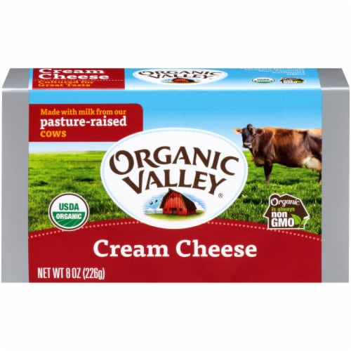 Organic Valley Cream Cheese Perspective: front
