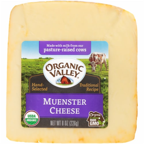 Organic Valley Muenster Cheese Perspective: front