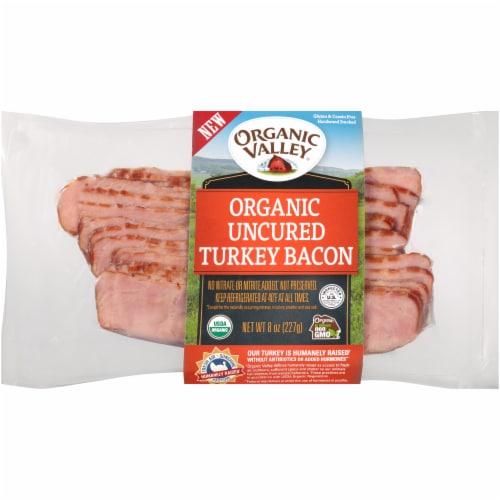 Organic Prairie Uncured Hardwood Smoked Turkey Bacon Perspective: front