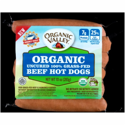 Organic Prairie Organic Uncured Beef Hot Dogs Perspective: front