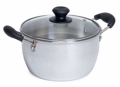 IMUSA Aluminum Sauce Pot with Lid - Silver Perspective: front