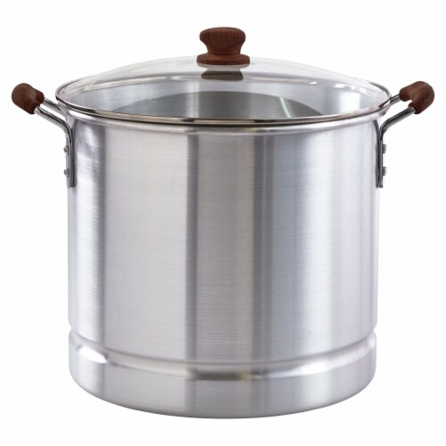 IMUSA Steamer and Glass Lid - Silver Perspective: front