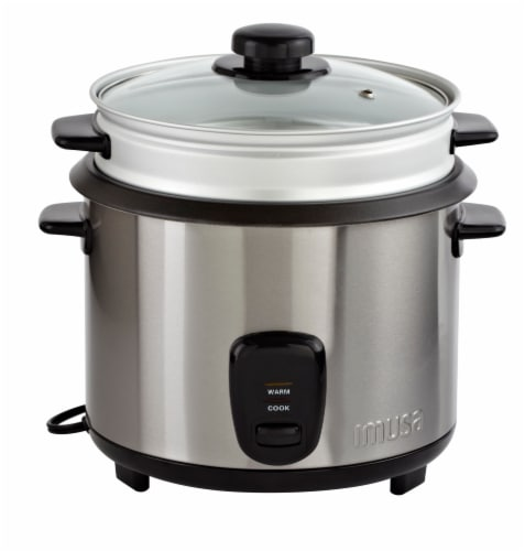IMUSA Rice Cooker with Steam Tray Perspective: front