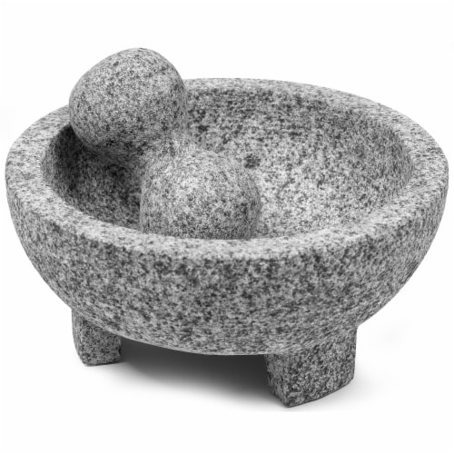 IMUSA Granite Molcajete - 2 Piece - Gray Perspective: front