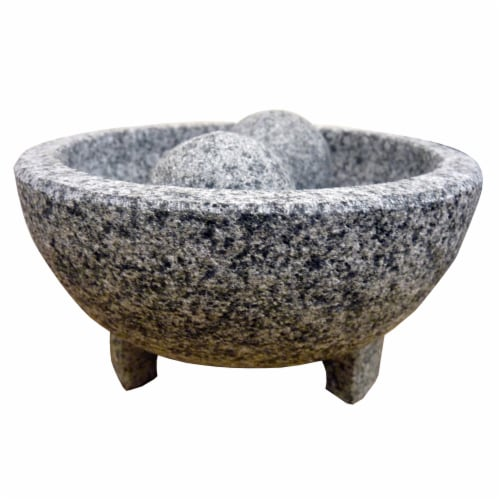 IMUSA Granite Molcajete Mexican Mortar and Pestle - Gray Perspective: front
