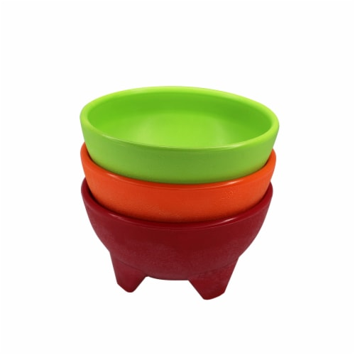 IMUSA Salsa Dish - 3 Pack - Red/Yellow/Green Perspective: front