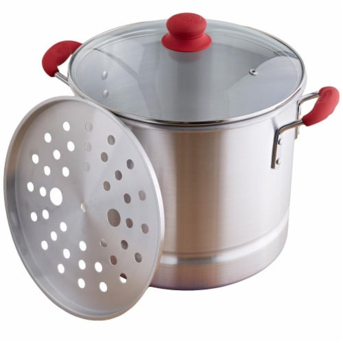 Fred Meyer - Imusa Global Kitchen Mexico Steamer Pot - Red/Silver