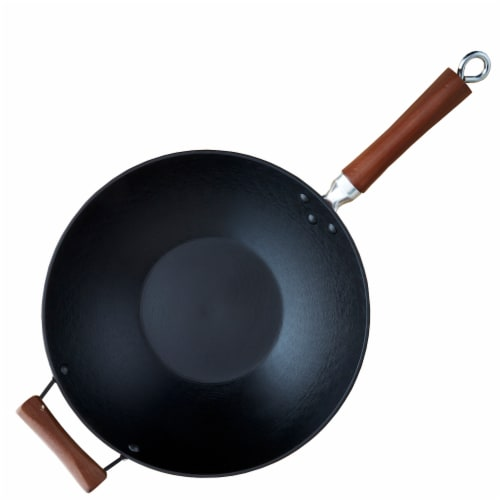IMUSA Global Kitchen Light-Cast Iron Wok Perspective: front