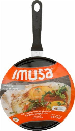 IMUSA Egg Casserole Pan - Black Perspective: front