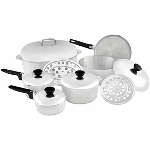 IMUSA Cast Aluminum Cajun Cookware Set - Silver Perspective: front