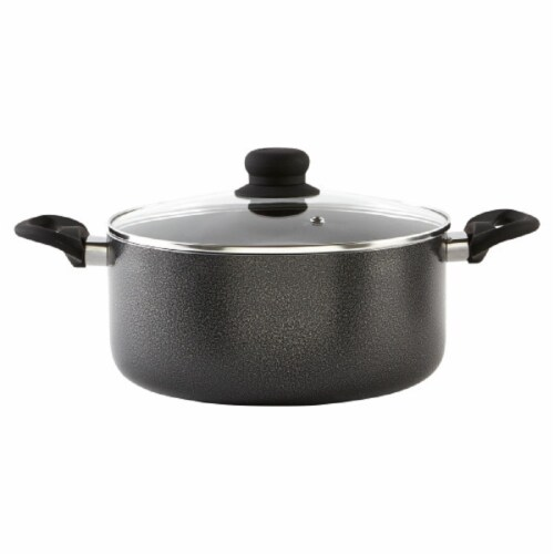 Imusa Hammertone Stock Pot - Gray Perspective: front