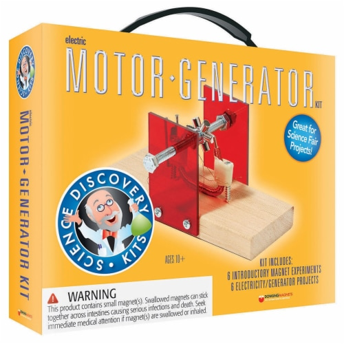 Science Set Motor/Generator Perspective: front