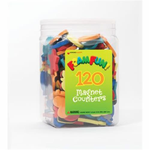 Dowling Magnets DO-732102 Foam Fun Magnet Counters Perspective: front