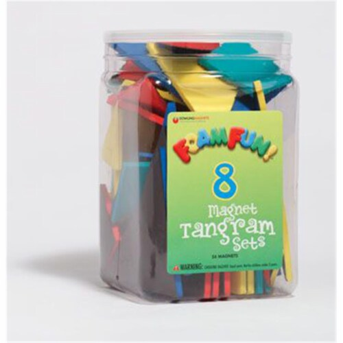 Foam Fun!™ Magnet Tangrams Pieces, Pack of 56 Perspective: front