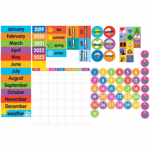 Dowling Magnets Giant Magnetic Calendar Set Perspective: front