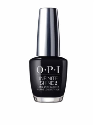 OPI Infinite Shine Black Onyx Nail Lacquer Perspective: front