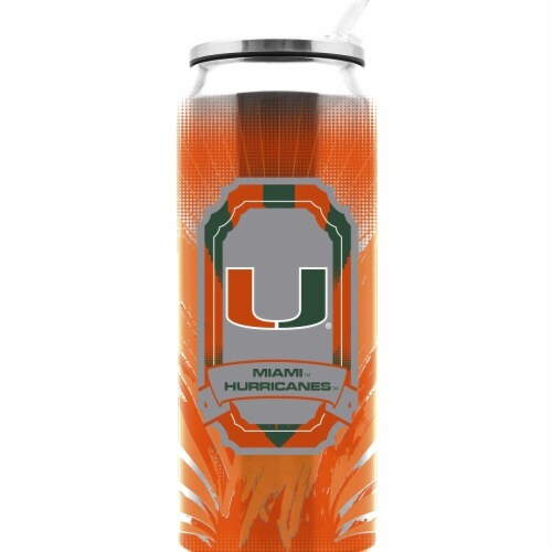 Univ Of Miami Ss Thermocan - Large (16.9 Oz) Perspective: front