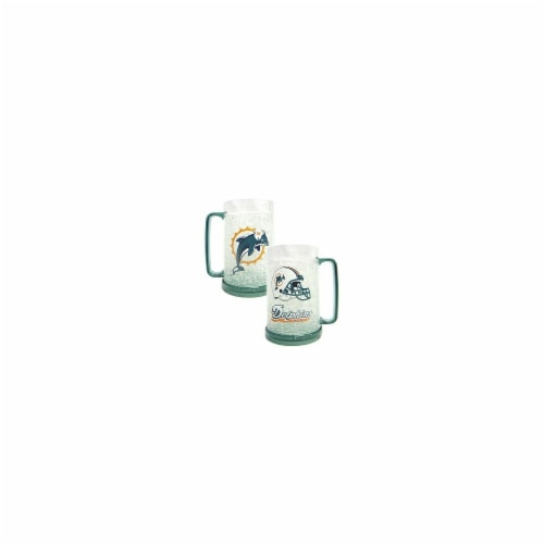 Miami Dolphins Crystal Freezer Mug Perspective: front