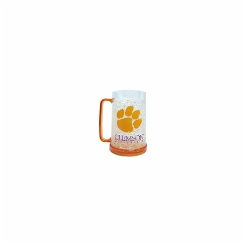 Clemson Tigers Mug Crystal Freezer Style Special Order Perspective: front