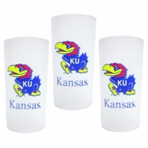 Kansas Jayhawks 3 Piece Tumbler Set Perspective: front