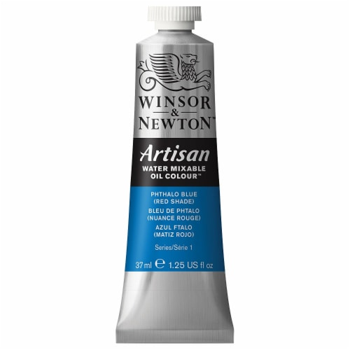 Winsor & Newton - Artisan Water Mixable Oil Colours - 37ml Tube - Pthalo Blue (Red Shade) Perspective: front