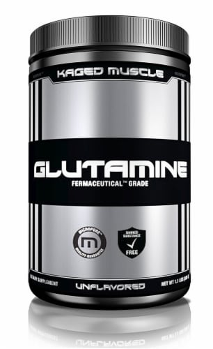 Kaged Muscle  Glutamine Powder   Unflavored Perspective: front