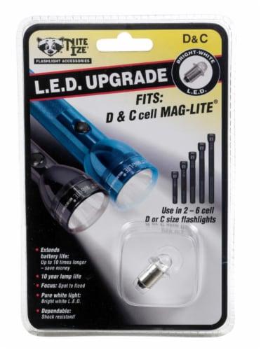 Nite Ize LED Upgrade LED Flashlight Bulb Flanged Base - Case Of: 1; Each Pack Qty: 1; Perspective: front