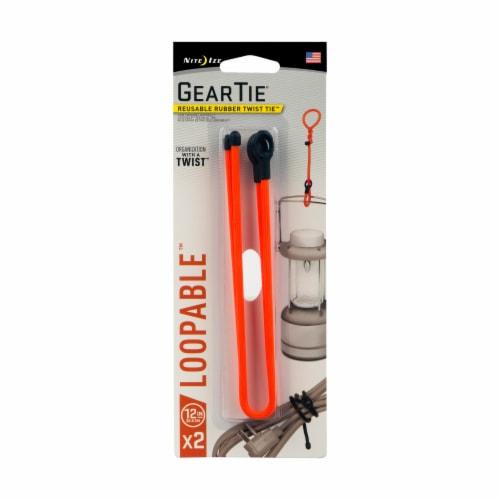 Nite Ite Gear Tie Loopable Twist Tie - Bright Orange Perspective: front