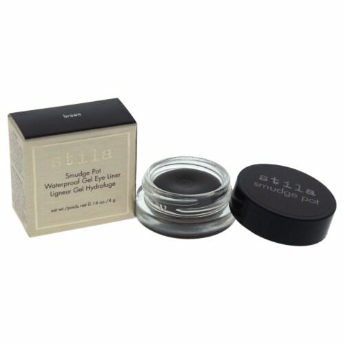 Stila Smudge Pots Waterproof Gel Eye Liner  Brown Eyeliner 0.14 oz Perspective: front