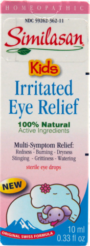 Similasan Homeopathic Kids Irritated Eye Relief Eye Drops Perspective: front