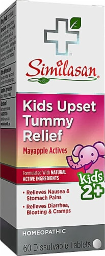 Similasan Kids Upset Tummy Relief Dissolvable Tablets 60 Count Perspective: front