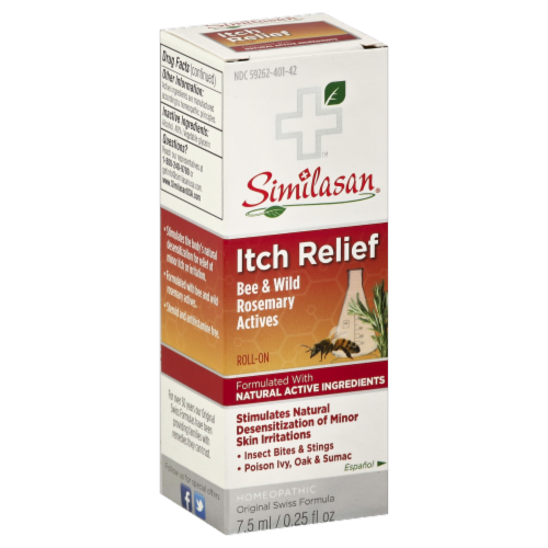 Similasan Bee & Wild Rosemary Actives Itch Relief Roll-On Perspective: front