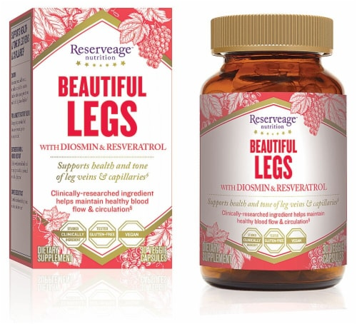 Reserveage Nutrition Beautiful Legs Advanced Diosmin Complex Capsules Perspective: front