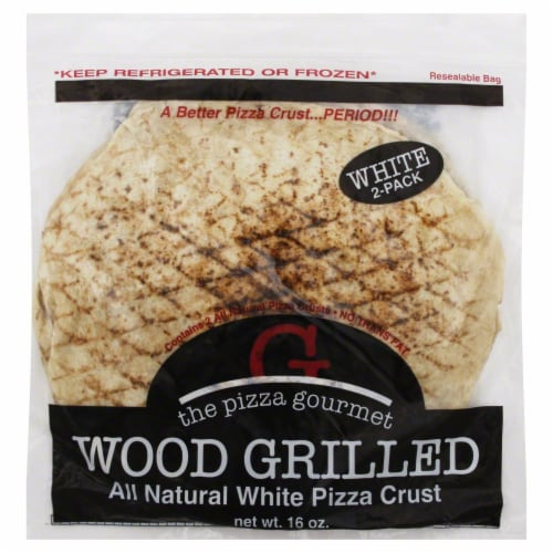 The Pizza Gourmet Wood Grilled All Natural Pizza Crust Perspective: front