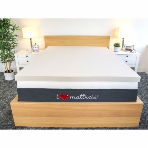I Love Pillow Cooling Gel Infused Memory Foam Copper Mattress Topper, Twin XL Perspective: front